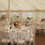 A marquee wedding at Clint Lodge